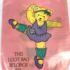 Vintage Gift Bags Ballerina Bear Forget Me Not Party Pink Lot 3 Total 24 Bags