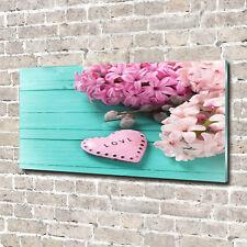 Glas-Bild Wandbilder Druck auf Glas 140x70 Deko Blumen & Pflanzen Flieder Herz