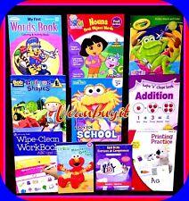 Huge Lot PreK Assorted PRESCHOOL Children's Homeschool Pre-K Workbooks Ages 3+