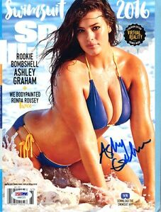 ASHLEY GRAHAM SIGNED AUTOGRAPHED FULL SPORTS ILLUSTRATED NO LABEL PSA/DNA