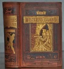MYSTERIOUS ISLAND~JULES VERNE~SCARCE 1ST/1ST EDITION OF THE COMBINED BOOKS