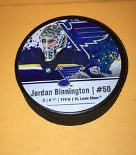 St Louis BLUES  Jordan Binnington Limited Edition Photo HOCKEY PUCK RARE Goalie