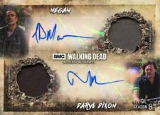 Walking Dead Season 8 Dual Autograph Dual Relic Card Morgan & Norman Reedus