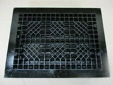 Antique Victorian Metal Cast Iron Vent Grate Cover Heat Floor Register & Louvers
