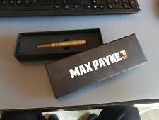 Max Payne 3 Metal Bullet Pen Penna proiettile Rockstar Games PS3 Xbox 360