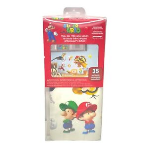 """RoomMates Super Mario Peel and Stick Wall Decals 2"""" X 9"""" Multi (673SCS) USA"""