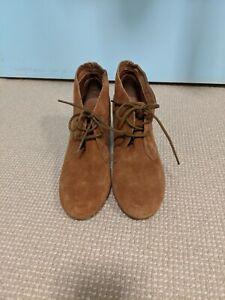 Aldo Sz 37 Suede Laced Ankle Boots CHESTNUT/TAN