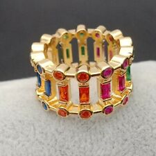 cz eternity band engagement full finger gorgeous rings colored cz ring