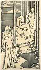 Émoi-J' ai ma joie Tour-Hans Wildermann - 1927 Gravure sur bois