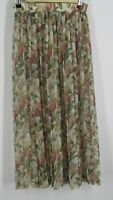 Vintage Wrapper Size Small, Pleated Floral Pattern skirt Sheer Midi cottagecore