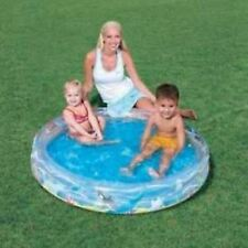INFLATABLE OCEAN LIFE 2-RING SWIMMING POOL  ULTIMATE WATER FUN GREAT FOR SUMMER