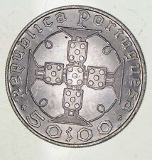 SILVER - WORLD Coin - 1970 Portugal 50 Escudos - World Silver Coin *393