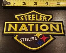 """PITTSBURGH STEELERS SHIELD~STEELER NATION APROX 5"""" PATCH~HIGH QUALITY~SHIPS FREE"""