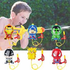 Kids Blaster Backpack Water Gun Spiderman Toys Garden Play Air Pressure Outdoor