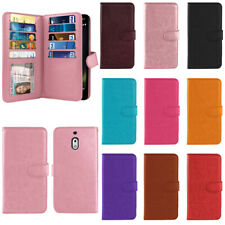 """For Nokia 2V / 2.1 5.5"""" Flip Wallet Card Holder TPU Silicone Case Cover"""