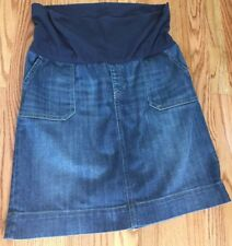 Gap Maternity Size 12 Women's Skirt Denim Jean Bottom Modest Band Stretch