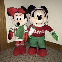 Mickey Mouse & Minnie Disney Christmas Door Greeter Holiday Plush