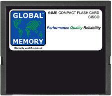 64 Mb Tarjeta Flash Compacta Para Cisco 3631 Router (MEM3631-64CF, MEM3631-32U64CF)