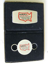 1979 ZIPPO AMAX SUNSPOT COAL MINE MONEY PINKNIFE CLIP & KEY HOLDER MINT IN BOX