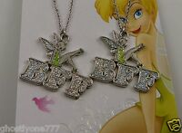 Disney Tinkerbell BFF Best Friends forever necklace 1 for each frnd tinker bell