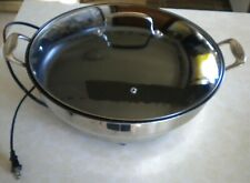 "CUISINART CSK-250 NONSTICK 15"" ELECTRIC SKILLET WITH CLEAR TOP"