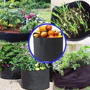 Grow Bags Garden Heavy Duty Non-Woven Aeration Plant Fabric Pot Container handle