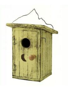 BIRDHOUSE - Birdie Loo Yellow Birdhouse - SONGBIRD ESSENTIALS SE911