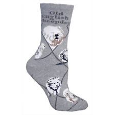 Old English Sheepdog Dog Breed Gray Lightweight Stretch Cotton Adult Socks
