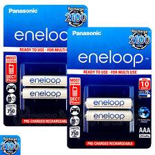 4 x Panasonic Eneloop AAA batteries 750mAh Rechargeable Ni-MH Accu HR03 Phone