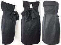 BNWT LK Bennett Dress Strapless Cocktail Bow Black Ribbed CT Dr Setif Party 10UK