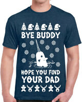 645 Bye Buddy Mens T-shirt ugly christmas sweater party elf funny narwhal new