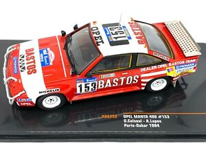 1:43 Scale IXO Opel Manta 400 Rally Car - G Colsoul 1984 Paris Dakar Rally 1984