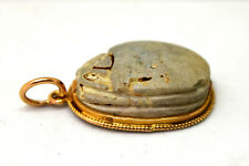 Ancient Egyptian 12K Solid Yellow Gold Scarab Beetle Pendant
