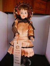 """Award Winning Reproduction 17""""  247 Jointed Doll Peach Black Lace"""
