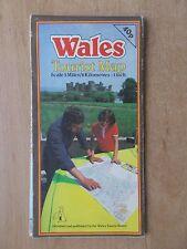 VINTAGE 1978 WALES TOURIST BOARD SHEET MAP
