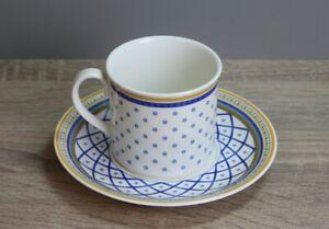 Villeroy & Boch V&B Perpignan Kaffeetasse mit Unterteller / Untertasse Tasse
