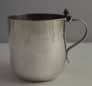 Charming Silver Plated Child's Mug With Teddy Bear Handle