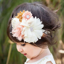Flower Lace Rhinestone Headband Elastic Hair Band Baby Girl Kid Hair Accessories