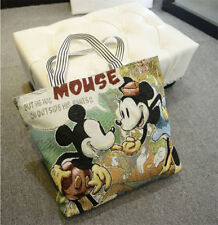 Hot Women Canvas Shoulder Bag Mickey Mouse Handbag Shopping Bag Hobo Bag fashion