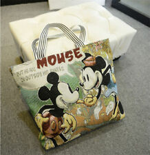 New Women Canvas Shoulder Bag Mickey Mouse Handbag Shopping Bag Hobo Bag fashion