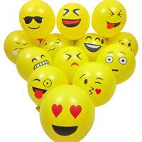 "10PCS 12"" Cute Emoji Latex Balloons Home Birthday Party Wedding Decoration US"