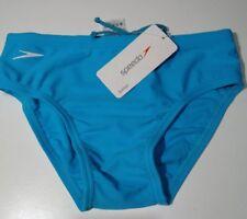 """Boys Speedo Blue Swim Briefs Age 11/12 28"""" Waist new with tags"""