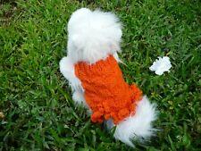 XXXS  handmade knit  Pumpkin dog sweater dress