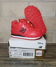 Disney x New Balance Minnie Mouse Girl's Size 4C Red Running Shoes IC574M1 NEW