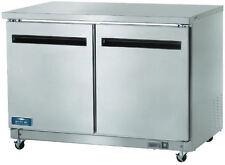 Arctic Air AUC48R12cf 2-Door Commercial Undercounter Worktop Refrigerator NEW!!