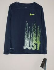 NEW NIKE TICK 4 YEARS BLUE GRAPHIC DRI-FIT T TEE TOP SPORTS FOOTBALL GIRL BOY