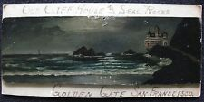 Cliff House San Francisco California Antique Miniature Oil Painting