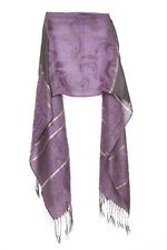 Purple Black Gold Stripes Sophisticated Event Scarf (s38)