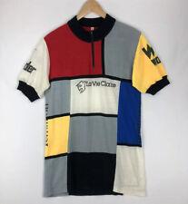 RARE La Vie Claire Terraillon Vtg '84 Cycling Jersey Men's Sz 40 Merino Wool