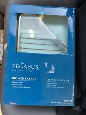 PEGASU Shower Basket Bathroom Wall Mount Soap Tray Holder Dish Bath Shower